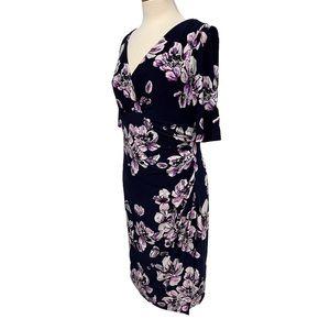 LAUREN Faux-wrap Dress Size 12